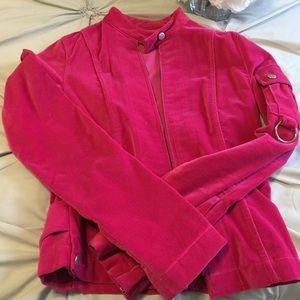 Hot Pink Velvet Jacket